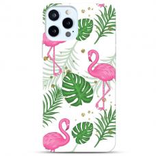 """Iphone 12/ 12 Pro Unique Silicone Case 1.0 mm """"u-case Airskin Flamingos design"""""""