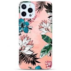 """Iphone 12/ 12 Pro Unique Silicone Case 1.0 mm """"u-case Airskin Flowers 1 design"""""""