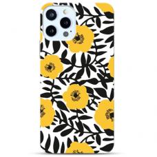 """Iphone 12/ 12 Pro Unique Silicone Case 1.0 mm """"u-case Airskin Flowers 2 design"""""""