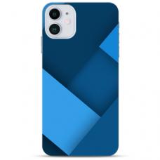 """Iphone 12 Mini Unique Silicone Case 1.0 mm """"u-case Airskin Blue design"""""""