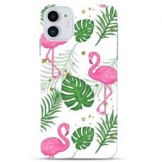 """Iphone 12 Mini Unique Silicone Case 1.0 mm """"u-case Airskin Flamingos design"""""""