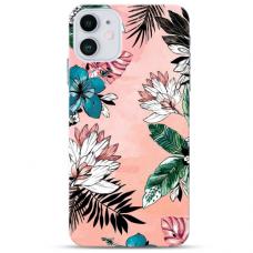"Iphone 12 Mini Unique Silicone Case 1.0 mm ""u-case Airskin Flowers 1 design"""