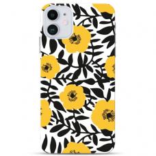 "Iphone 12 Mini Unique Silicone Case 1.0 mm ""u-case Airskin Flowers 2 design"""