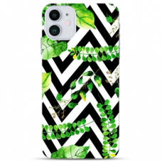 "Iphone 12 Mini Unique Silicone Case 1.0 mm ""u-case Airskin Leaves 2 design"""