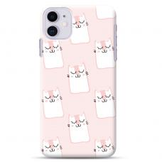 "Iphone 12 Mini Unique Silicone Case 1.0 mm ""u-case Airskin Pink Kato design"""