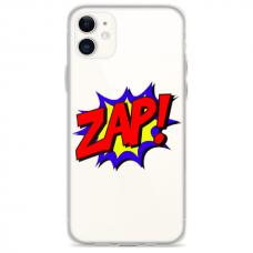 """Iphone 12 Mini Unique Silicone Case 1.0 mm """"u-case Airskin ZAP design"""""""