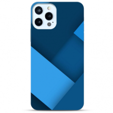 "Iphone 12 Pro max Unique Silicone Case 1.0 mm ""u-case Airskin Blue design"""