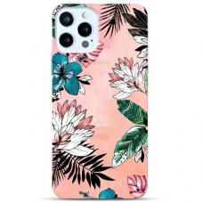 """Iphone 12 Pro max Unique Silicone Case 1.0 mm """"u-case Airskin Flowers 1 design"""""""
