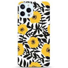 """Iphone 12 Pro max Unique Silicone Case 1.0 mm """" u-case Airskin Flowers 2 design"""""""