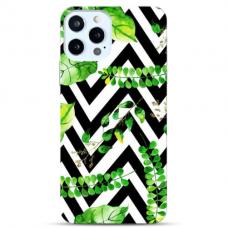 """Iphone 12 Pro max Unique Silicone Case 1.0 mm """"u-case Airskin Leaves 2 design"""""""