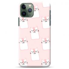 "Iphone 12 pro max Unique Silicone Case 1.0 mm ""u-case Airskin Pink Kato design"""
