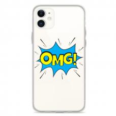 "Iphone 12 Unique Silicone Case 1.0 mm ""u-case Airskin OMG design"""
