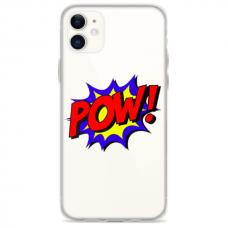 """Iphone 12 Unique Silicone Case 1.0 mm """"u-case Airskin POW design"""""""