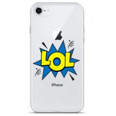 "Iphone 7 / Iphone 8 silicone phone case with unique design 1.0 mm ""u-case Airskin LOL design"""