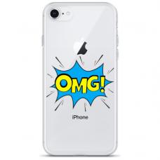 "Iphone 7 / Iphone 8 silicone phone case with unique design 1.0 mm ""u-case Airskin OMG design"""