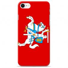 """Iphone 7 / Iphone 8 silicone phone case with unique design 1.0 mm """"u-case Airskin Vytis design"""""""