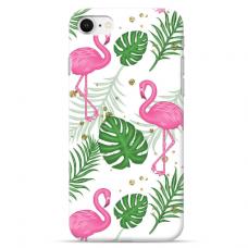 """Iphone 7 / Iphone 8 Unique Silicone Case 1.0 mm """"u-case Airskin Flamingos design"""""""