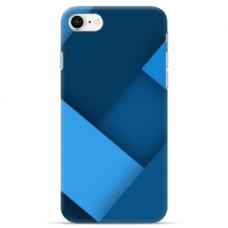 "Iphone 7 / Iphone 8 Unique Silicone Case 1.0 mm ""u-case Airskin Blue design"""