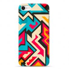 """Iphone 7 / Iphone 8 Unique Silicone Case 1.0 mm """"u-case Airskin Pattern 7 design"""""""