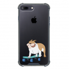 "Iphone 7 Plus / Iphone 8 Plus silicone phone case with unique design 1.0 mm ""u-case Airskin Doggo 2 design"""