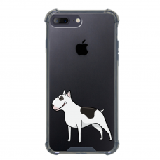 "Iphone 7 Plus / Iphone 8 Plus silicone phone case with unique design 1.0 mm ""u-case airskin Doggo 3 design"""