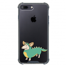 "Iphone 7 Plus / Iphone 8 Plus silicone phone case with unique design 1.0 mm ""u-case airskin Doggo 4 design"""