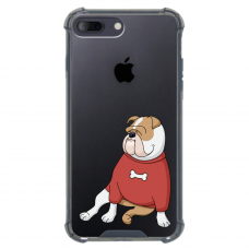 "Iphone 7 Plus / Iphone 8 Plus silicone phone case with unique design 1.0 mm ""u-case airskin Doggo 5 design"""