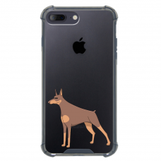 "Iphone 7 Plus / Iphone 8 Plus silicone phone case with unique design 1.0 mm ""u-case airskin EU design"""