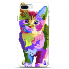 "Iphone 7 Plus / Iphone 8 Plus silicone phone case with unique design 1.0 mm ""u-case airskin Kitty design"""