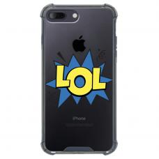 """Iphone 7 Plus / Iphone 8 Plus Unique Silicone Case 1.0 mm """"u-case Airskin LOL design"""""""