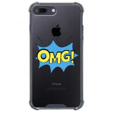"""Iphone 7 Plus / Iphone 8 Plus Unique Silicone Case 1.0 mm """"u-case Airskin OMG design"""""""