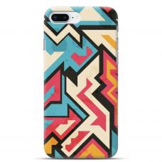 """Iphone 7 Plus / Iphone 8 Plus Unique Silicone Case 1.0 mm 1.0 mm """"u-case airskin Pattern 7 design"""""""