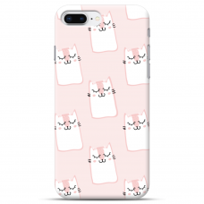 """Iphone 7 Plus / Iphone 8 Plus Unique Silicone Case 1.0 mm 1.0 mm """"u-case airskin Pink Kato design"""""""