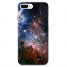 "Iphone 7 Plus / Iphone 8 Plus silicone phone case with unique design 1.0 mm ""u-case Airskin Space 2 design"""