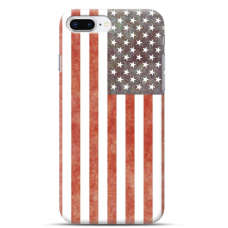"Iphone 7 Plus / Iphone 8 Plus silicone phone case with unique design 1.0 mm ""u-case airskin USA design"""