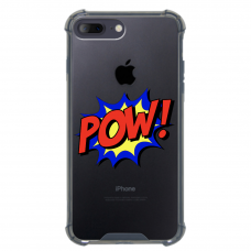 "Iphone 7 Plus / Iphone 8 Plus silicone phone case with unique design 1.0 mm ""u-case airskin POW design"""