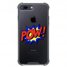 """Iphone 7 Plus / Iphone 8 Plus Unique Silicone Case 1.0 mm """"u-case airskin ZAP design"""""""