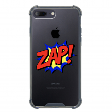 "Iphone 7 Plus / Iphone 8 Plus silicone phone case with unique design 1.0 mm ""u-case airskin ZAP design"""