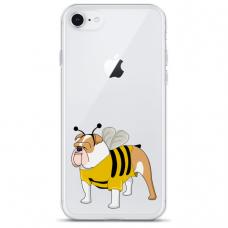 """Iphone SE 2020 silicone phone case with unique design 1.0 mm """"u-case Airskin Doggo 1 design"""""""