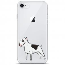"""Iphone SE 2020 silicone phone case with unique design 1.0 mm """"u-case Airskin Doggo 3 design"""""""