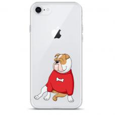 """Iphone SE 2020 silicone phone case with unique design 1.0 mm """"u-case Airskin Doggo 5 design"""""""