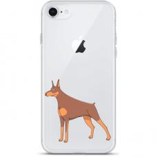 """Iphone SE 2020 silicone phone case with unique design 1.0 mm """"u-case Airskin Doggo 6 design"""""""