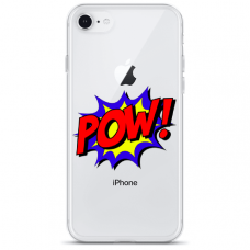"""Iphone SE 2020 silicone phone case with unique design 1.0 mm """"u-case Airskin POW design"""""""