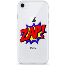 "Iphone SE 2020 silicone phone case with unique design 1.0 mm ""u-case Airskin ZAP design"""
