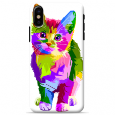 "Iphone X / Iphone XS Unique Silicone Case 1.0 mm ""u-case Airskin Kitty design"""
