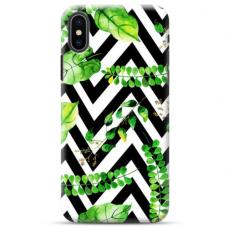 "Iphone X / Iphone XS Unique Silicone Case 1.0 mm ""u-case Airskin Leaves 2 design"""