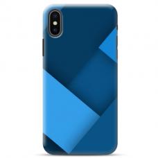 """Iphone X / Iphone XS Unique Silicone Case 1.0 mm """"u-case Airskin Blue design"""""""