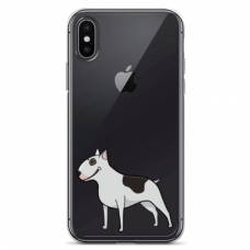 "Iphone XR silicone phone case with unique design 1.0 mm ""u-case Airskin Doggo 3 design"""