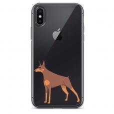 "Iphone XR silicone phone case with unique design 1.0 mm ""u-case Airskin Doggo 6 design"""