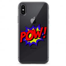"Iphone XR silicone phone case with unique design 1.0 mm ""u-case Airskin POW design"""